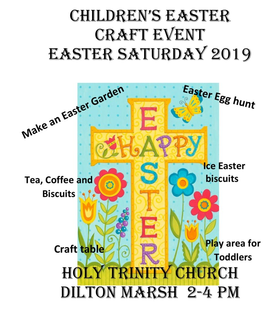 Easter Crafts At Dilton Marsh White Horse Team Ministry